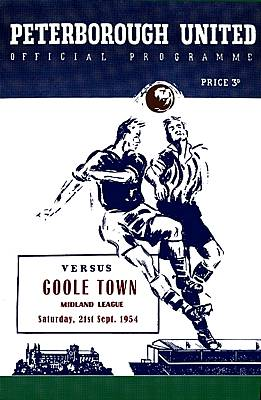 Peterborough United Match Programme on Canvas