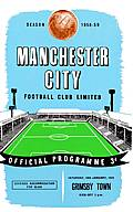 Manchester City Match Programme on Canvas