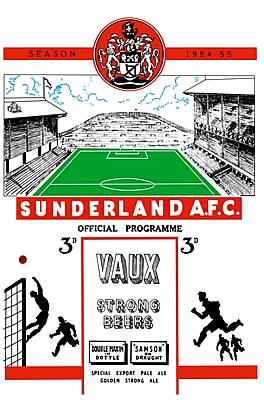 Sunderland Match Programme on Canvas