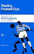 Reading Match Programme on Canvas