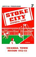 Stoke City Match Programme on Canvas