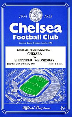 Chelsea Match Programme on Canvas