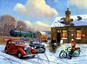 Winter Evening At The Station - Kevin Walsh
