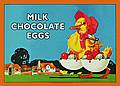 Postkarte - CHOCOLATE EGGS POSTCARD