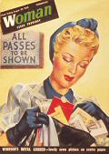 1940s ALL PASSES POSTCARD