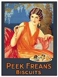 PEEK FREAN LADY POSTCARD