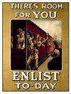 ENLIST TODAY POSTCARD