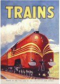 Postcard - Trains Red