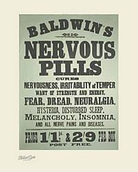 affiche encadrer nervous pills. Black Bedroom Furniture Sets. Home Design Ideas