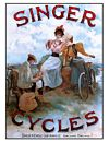 Poster - Singer Cyclists