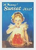SUNSET JELLY  FRIDGE MAGNET