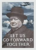 CHURCHILL FRIDGE MAGNET