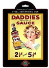 Plaque en m�tal 150 x 210mm - Daddies Sauce
