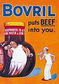 A5 BOVRIL BEEFY STEEL SIGN