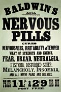 NERVOUS PILLS STEEL SIGN