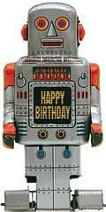 HAPPY BIRTHDAY ROBOT RETRO