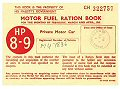Postcard - Motor Fuel Ration Book