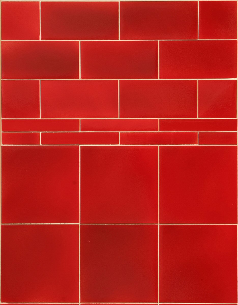 Red tile flooring