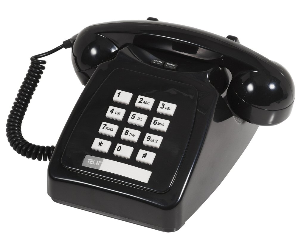 push button telephone with bell ringer. Black Bedroom Furniture Sets. Home Design Ideas