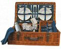 Ascot Picnic Basket (4 Place Settings, Warwick Blue)