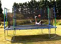 Z17 Trampoline - Green Pads - with Safety Enclosure & Cover