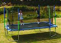 Z20 Trampoline - Blue Pads - with Safety Enclosure & Cover