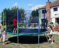 Gold Premier 12-foot Trampoline with Safety Enclosure, Cover & Ladder