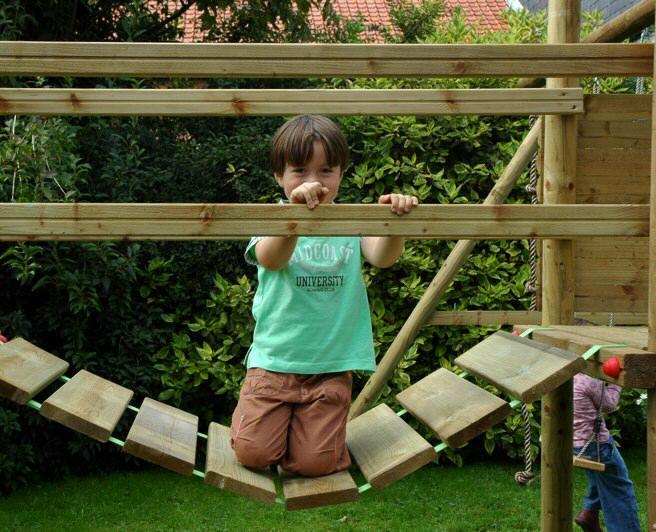 Backyard Rope Bridge design your own monmouth climbing frame