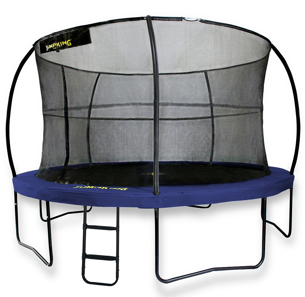 Jumpking JumpPOD Deluxe 14ft Trampoline Blue Pads