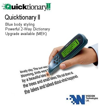 Wizcom Quicktionary II with Memory Extension Kit - Portable Scanner Translator