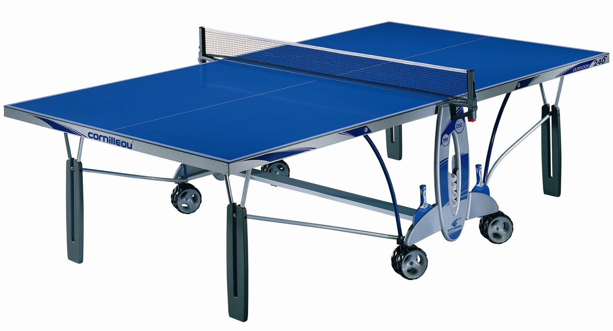Cornilleau sport 300m outdoor rollaway in blue - Cornilleau outdoor table tennis cover ...
