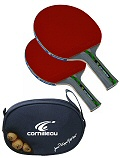 Impulse 1000 Competition Table Tennis Bat Set, including 3 Competition balls and Gatien Cover
