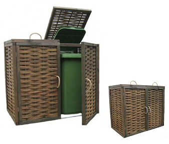 Double wheelie bin screen