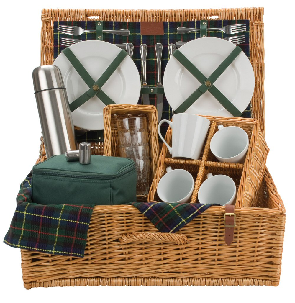 4 Person Picnic Basket Uk : Gordon person tea picnic basket