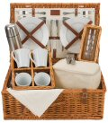 Natural Tea Picnic Basket - 4 Person