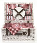 Polka Dot Picnic Basket, 2 Settings