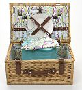Slide Flower Picnic Basket, 2 Settings