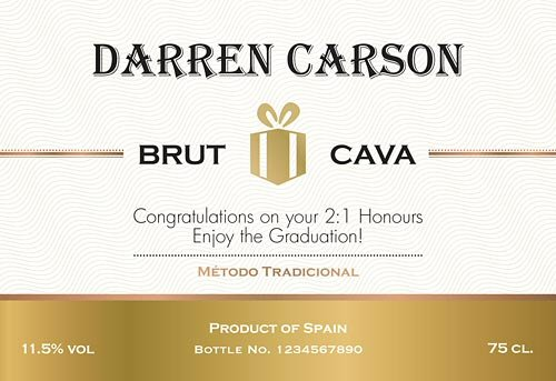 Personalised Cava Bottles