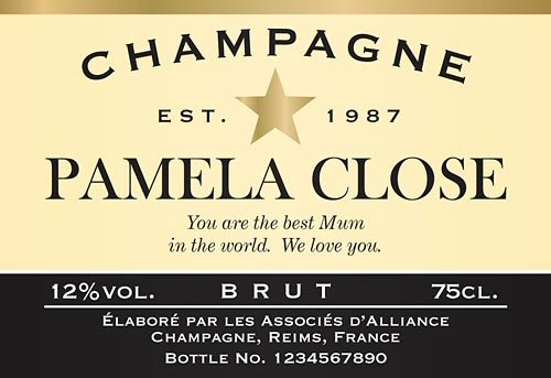 Personalised Bottle Of Champagne