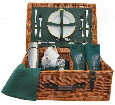 ascot picknickkorb f r 2 personen gr n. Black Bedroom Furniture Sets. Home Design Ideas