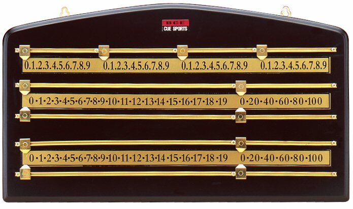 BCE 4 Player Brass Snooker Scoreboard 1521C