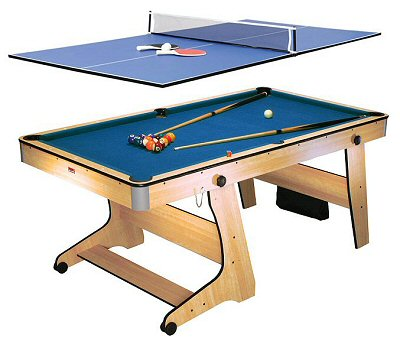 BCE Ft Folding Pool Table With Table Tennis Top FPTT - Md pool table