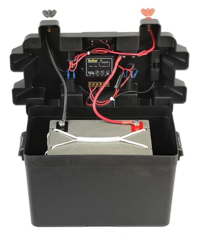 240v solar electricity kit step 2 attach battery