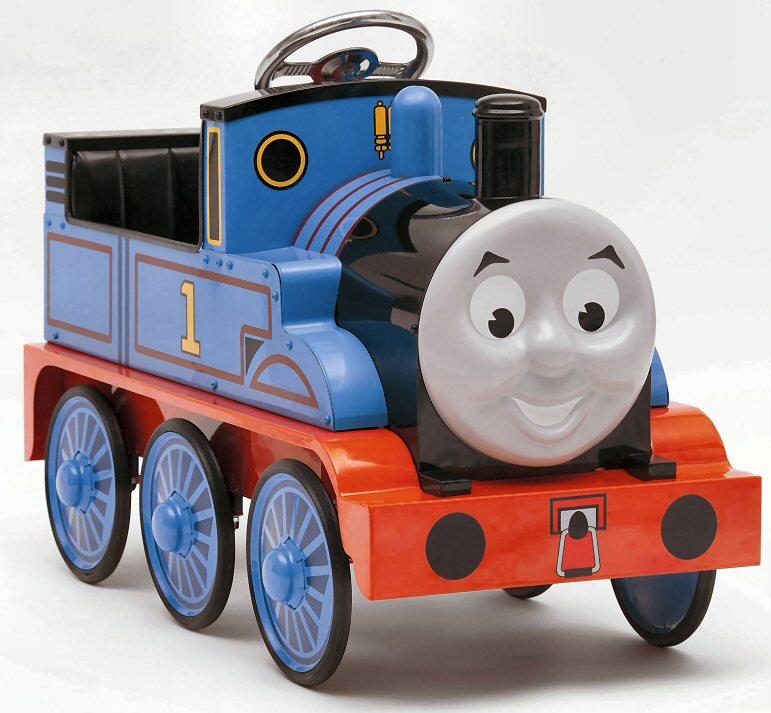 Thomas the tank engine ride on train set joke