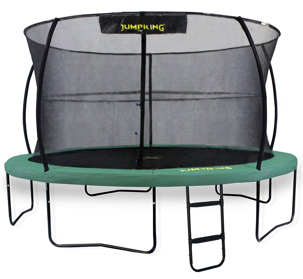 Jumpking JumpPOD Deluxe 12ft Trampoline Green Pads